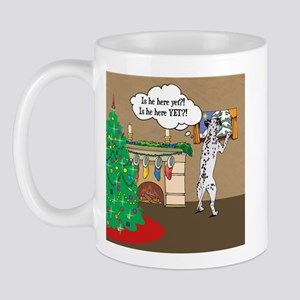 Waiting For Santa Dalmation Christmas Mug