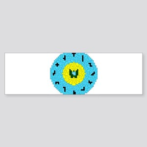 PENT CLOCK Bumper Sticker