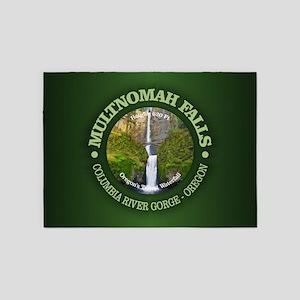 Multnomah Falls 5'x7'Area Rug