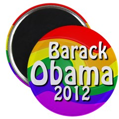 Ten Obama 2012 Rainbow Magnets