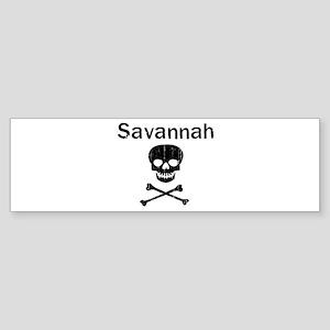 Savannah (skull-pirate) Bumper Sticker