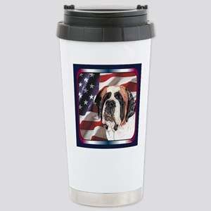 Saint Bernard US Flag Mugs