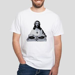 Jesus As A DJ T-Shirt White T-Shirt