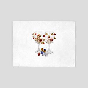 CheerfulWineGlasses053110 5'x7'Area Rug