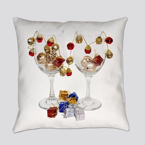 CheerfulWineGlasses053110 Everyday Pillow