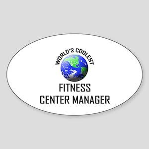 World's Coolest FITNESS CENTER MANAGER Sticker (Ov