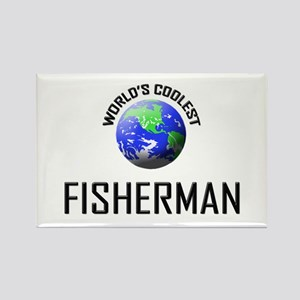 World's Coolest FISHERMAN Rectangle Magnet