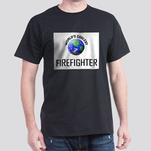 World's Coolest FIREFIGHTER Dark T-Shirt