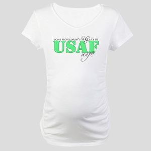 Lucky like us: USAF Wife Maternity T-Shirt