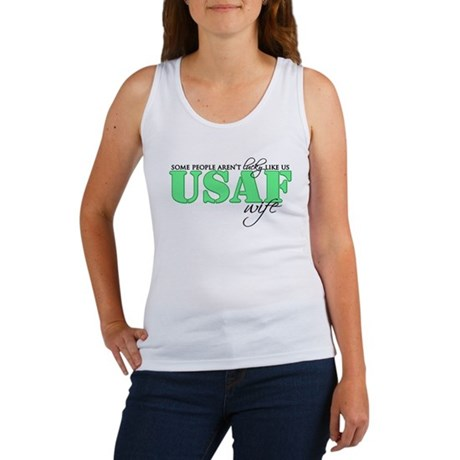 Lucky like us: USAF Wife Women's Tank Top
