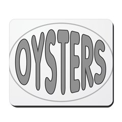 Oysters Oval Mousepad