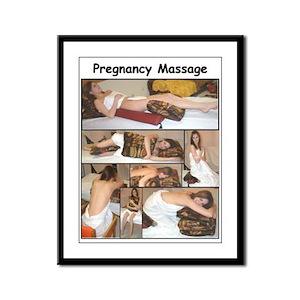 Pregnancy Massage Framed Panel Print