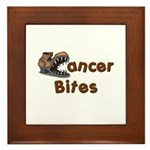Cancer Bites Framed Tile