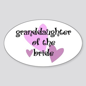 Grand Daughter of the Bride Oval Sticker