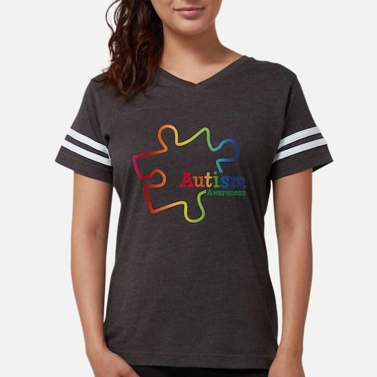 Rainbow Gradient Autism Womens Football T-Shirt