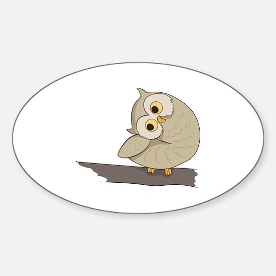 Cool Eule Sticker (Oval)