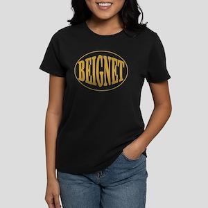 Beignet Oval Women's Dark T-Shirt