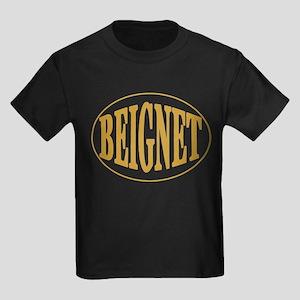 Beignet Oval Kids Dark T-Shirt