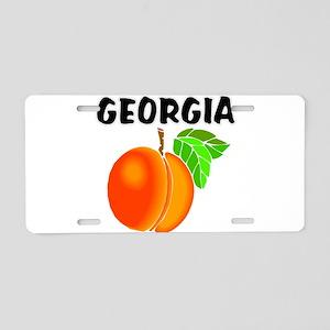 Georgia Peach Aluminum License Plate