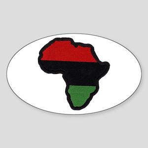 Red Black Green Afrika Oval Sticker