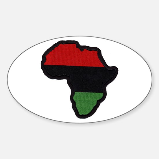 Red Black Green Afrika Oval Decal