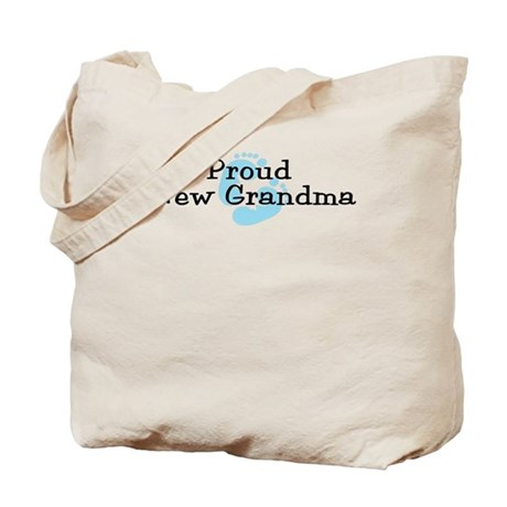 Proud New Grandma B Tote Bag