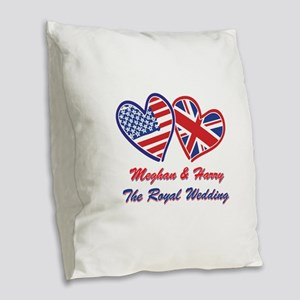 The Royal Wedding Burlap Throw Pillow