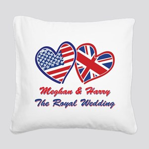 The Royal Wedding Square Canvas Pillow