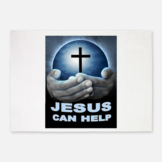 JESUS HELPS 5'x7'Area Rug