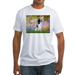 Monet's garden & Springer Fitted T-Shirt