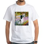 Monet's garden & Springer White T-Shirt