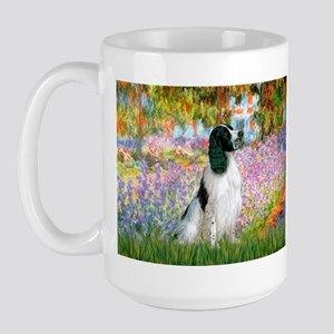 Monet's garden & Springer Large Mug