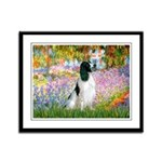 Monet's garden & Springer Framed Panel Print