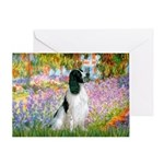 Monet's garden & Springer Greeting Card