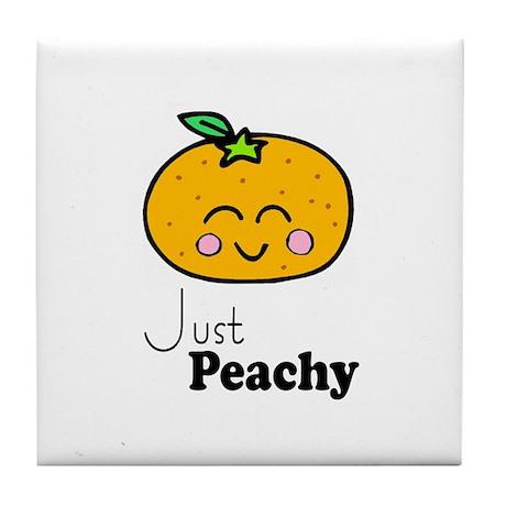 Just Peachy Cute Peach Tshirts and Gifts Tile Coas