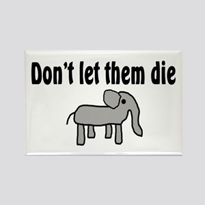 Save the Elephants Rectangle Magnet