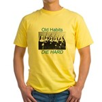 Old Habits Yellow T-Shirt