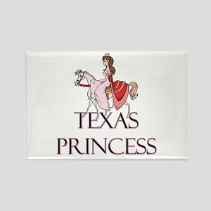 Texas Princess Rectangle Magnet