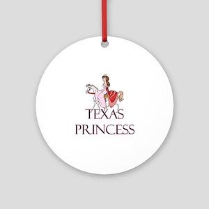 Texas Princess Ornament (Round)