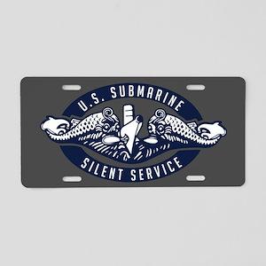 Submarine Silent Service Aluminum License Plate