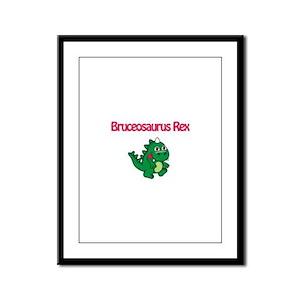 Bruceosaurus Rex Framed Panel Print
