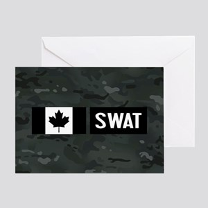Canadian SWAT: Black Camouflage Greeting Card