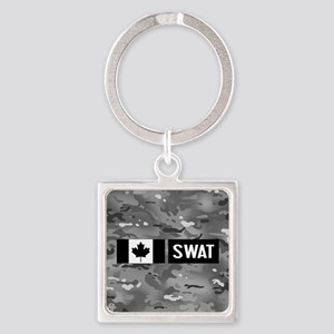 Canadian SWAT: Urban Camouflage Square Keychain