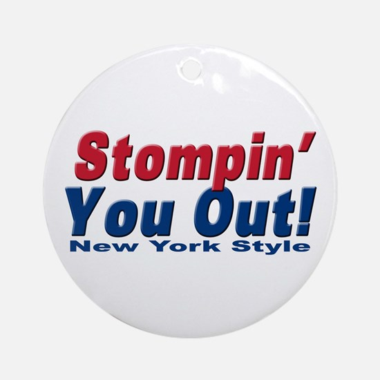 NY GIANTS Stompin you out Ornament (Round)