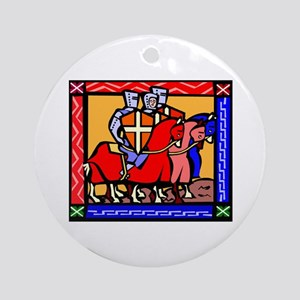 Knights Templar Round Ornament