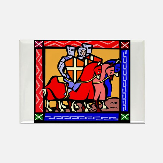 Knights Templar Rectangle Magnet
