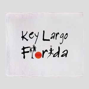 Key Largo Florida Throw Blanket