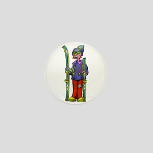 Ski Dude Mini Button