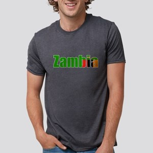 Zambia Flag T Shirts Women's Dark T-Shirt