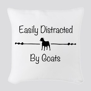Ggoats Woven Throw Pillow